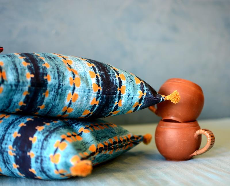 Batik Print Cushions by Shivani Shroff